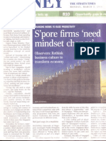 Spore Firms Need Mindset Change