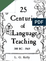 25 Centuries of Language Teaching