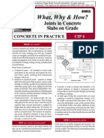 CIP06-Joints in Concrete Slabs on Grade