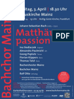 BACHCHOR MAINZ, Matthäuspassion