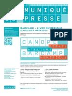 #bookcamplille / Communiqué de presse