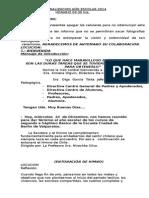 Libreto Acto Finalizacion Año Escolar 2014