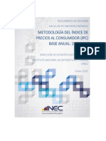Metodologia IPC(Base 2014=100)
