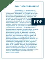 Reciprocidad y Redistribucion de Los Incas