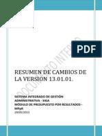 Resumen de Cambios Ppr de La Version 13 01 01