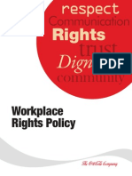 Coca Cola Workplace Rights Policy