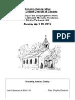 bulletin april 19