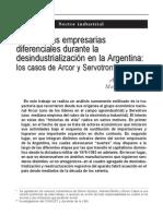 Wainer y Schorr, 2006. Trayectorias Empresarias Durante La Desindustrializacion Casos Arcor y Servotron