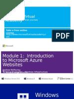 Mod 1 Introduction to Microsoft Azure Websites