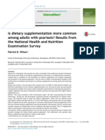 Is Dietary Supplementation More Common Among Adults With Psoriais