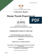 Nozzle Lab Experiment