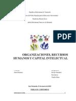 Organizacion, Recusrsos Humanos y Capital Intelectual1