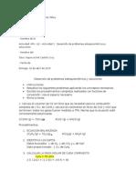 MIV– U2 – Actividad 1. Desarrollo de Problemas Estequiométricos y Soluciones