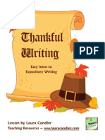 Thankful Writing an Expository Writing Lesson