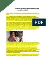 Promoción de Lactancia Materna y Alimentación Complementaria