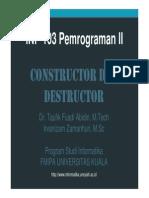 constructor dan descructor