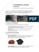 Unidad 8 Los Minerales y Las Rocas