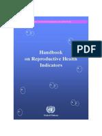 Handbook of Reproductive Health Indicators Inds