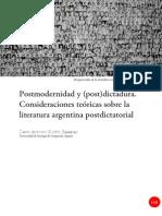 Dialnet , Muíño Barreiro, David Antonio - Postmodernidad y (Post)Dictadura. Consideraciones Teóricas Sobre La Literatura Argentina Postdictatorial