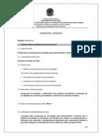 FORMULÁRIO PARA SOLICITAÇÃO de PROJETOS - Projeto Para Construção de Um Galpão Para Almoxarifado e Oficinas