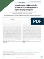 Artigo 2 Sistema de Apoio Ao Gerenciamento de Resíduos de Construção e Demoliçãopara Município de Pequeno Porte