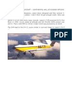 DAVIS SPORT PLANE DATA & INFO, A65, A75 CONTINENTAL CHOICES
