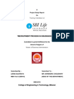 Recruitment process in insurance company