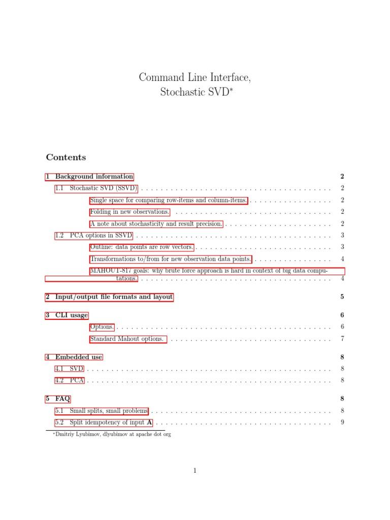 SSVD-CLI | Principal Component Analysis | Matrix (Mathematics)