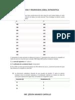 Taller Correlacion y Regresion Lineal Estadistica