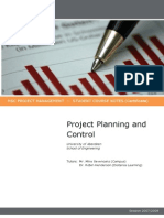 Planning and Control - Lectures