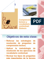 Comprension de Lectura La Sintesis