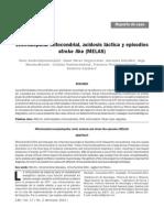 Encefalopatía Mitocondrial, Acidosis Láctica y Episodios Stroke Like (MELAS)
