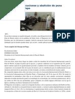 Francisco- Discurso a La Comisión Internacional Contra La Pena de Muerte 20-3-15 Moratoria de Ejecuciones y Abolición de Pena Capital