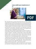 Francisco- Homilía 04-3-15 Aceptemos El Estilo Divino