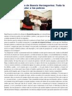Francisco- Palabras a Obispos de Bosni Herzegobina 16-3-15 Toda La Energía Para Ayudar a Los Pobres