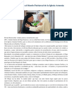 Francisco- Palabras a Sínodo Patriarcal de La Iglesia Católica Armenia 9-4-15 Invocaremos a La Divina Misericordia Para Que Nos Ayude a Todos