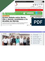 16-04-2015 Programan Debate entre candidatos a alcaldía de Mérida