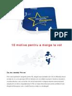 Alegeri Europarlamentare- 10 Motive Pentru a Merge La Vot