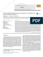 A CFD Computational Fluid Dynamic Simulation for Oil Leakage From Damaged Submarine Pipeline 2014 Energy