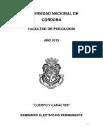 Apunte de Catedra Cuerpo y Caracter 2013