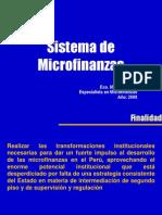 Sistema de Microfinanzas al 2008