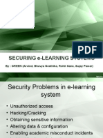 e-learning system security