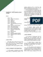 Telecommunication Ordinance Codified