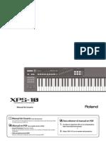 Manual Roland XPS-10