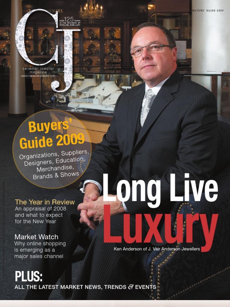 Canadian Jeweller Magazine December 2008 Buyers Guide   Diamond   Jewellery