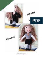 Amigurumi Hermione Granger Doll