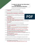 Cuestionario Sobre La Vida de San Marcelino Champagnat