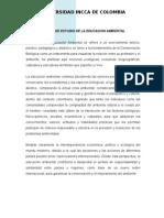 Objeto de Estudio de Ed Ambiental y Formacion Ciudadna 2015