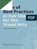Best Practices Fair Use Visual Arts