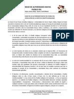 COMUNICADO DE LAS AUTORIDADES MAYAS DEL PUEBLO IXIL ANTE LA RESOLUCIÓN DE LA CORTE DE CONSTITUCIONALIDAD